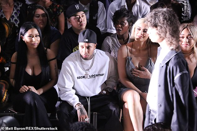 Fan: The 38-year-old Grammy nominee rapper (left) was known to have dressed up and set up court on the front row of his fashion shows (pictured in 2016)