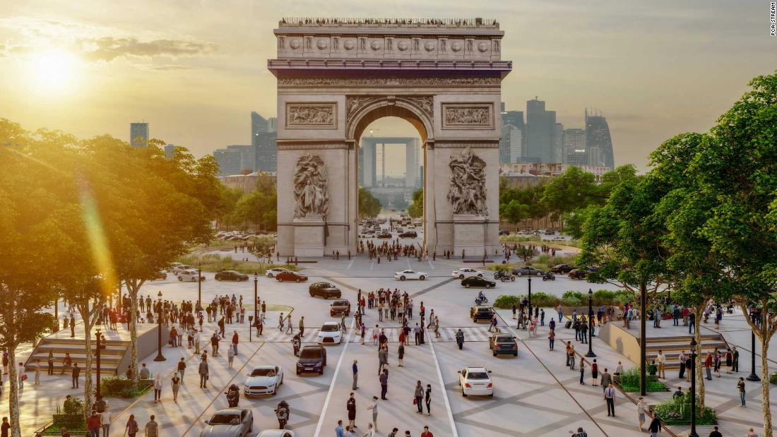 Champs Elysees in Paris prepares for green reform
