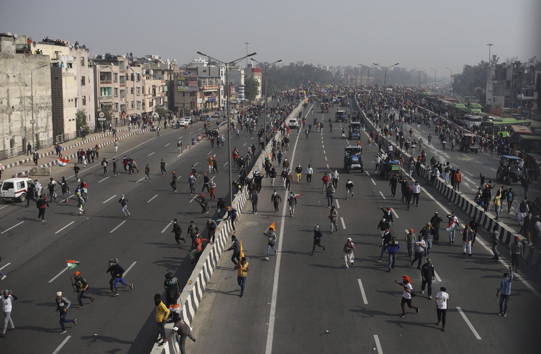 Tractors bring protests to the Indian capital on Republic Day